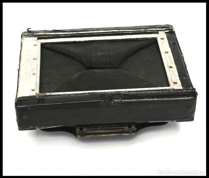 Cámara de fotos: BELLIENI EXTRA PLATT 9X12CM CON BERTHIOT OLOR 135MM F/6 . FUELLE ROJO - Foto 7 - 212615106