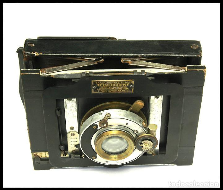 Cámara de fotos: BELLIENI EXTRA PLATT 9X12CM CON BERTHIOT OLOR 135MM F/6 . FUELLE ROJO - Foto 8 - 212615106