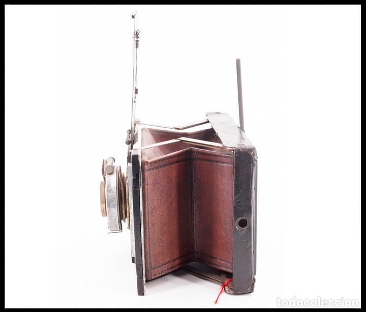 Cámara de fotos: BELLIENI EXTRA PLATT 9X12CM CON BERTHIOT OLOR 135MM F/6 . FUELLE ROJO - Foto 10 - 212615106