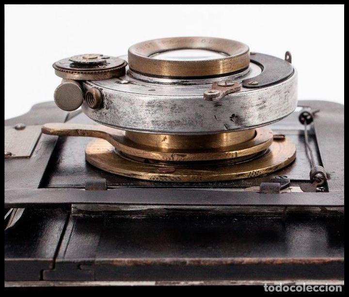 Cámara de fotos: BELLIENI EXTRA PLATT 9X12CM CON BERTHIOT OLOR 135MM F/6 . FUELLE ROJO - Foto 11 - 212615106