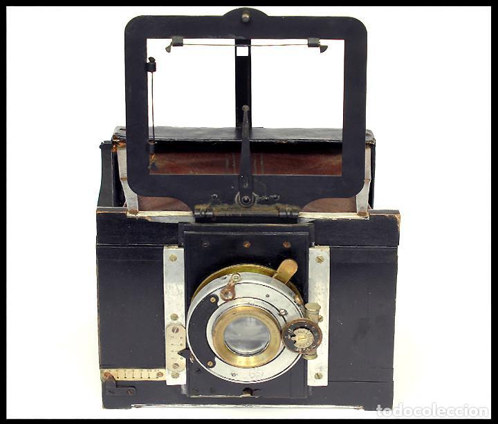Cámara de fotos: BELLIENI EXTRA PLATT 9X12CM CON BERTHIOT OLOR 135MM F/6 . FUELLE ROJO - Foto 13 - 212615106