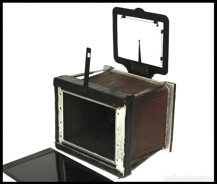 Cámara de fotos: BELLIENI EXTRA PLATT 9X12CM CON BERTHIOT OLOR 135MM F/6 . FUELLE ROJO - Foto 16 - 212615106