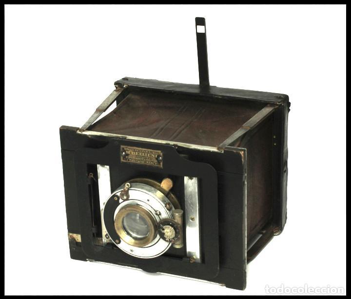 Cámara de fotos: BELLIENI EXTRA PLATT 9X12CM CON BERTHIOT OLOR 135MM F/6 . FUELLE ROJO - Foto 17 - 212615106