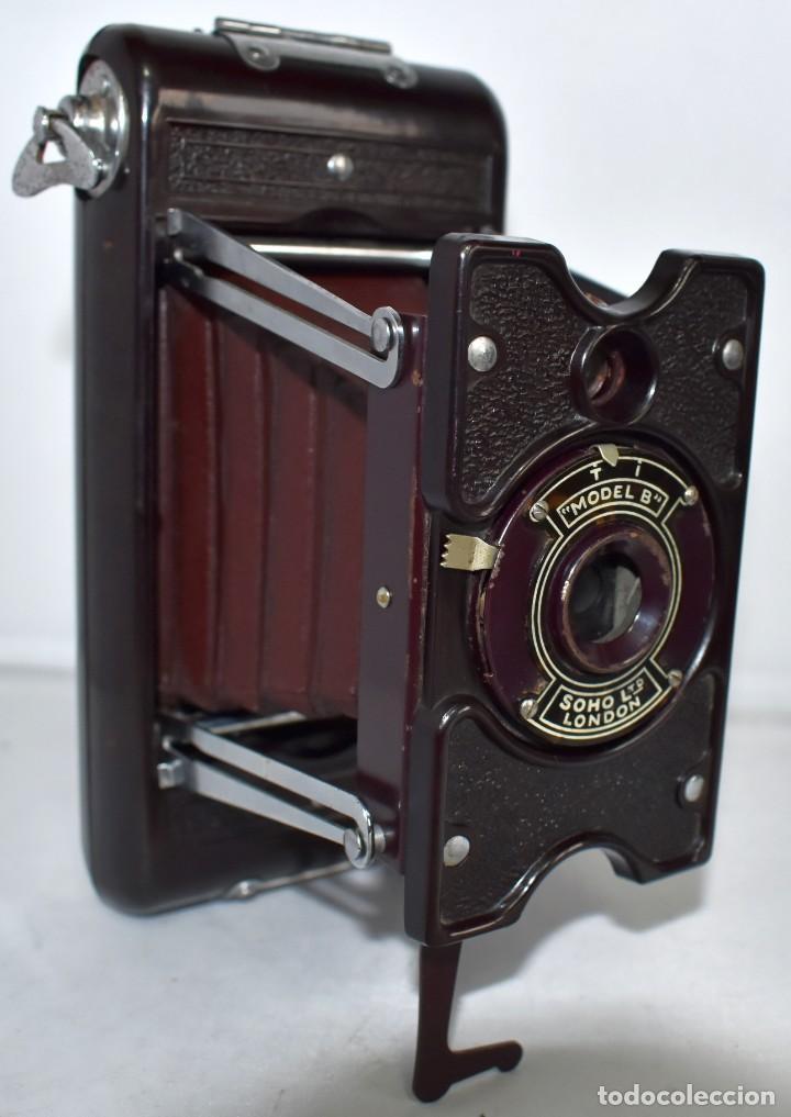 Cámara de fotos: ESPECTACULAR..1930..SOHO FOLDING MODEL B..BAQUELITA Y FUELLE GRANATE..MUY BUEN ESTADO..FUNCIONA - Foto 3 - 212793836