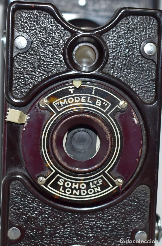 Cámara de fotos: ESPECTACULAR..1930..SOHO FOLDING MODEL B..BAQUELITA Y FUELLE GRANATE..MUY BUEN ESTADO..FUNCIONA - Foto 7 - 212793836