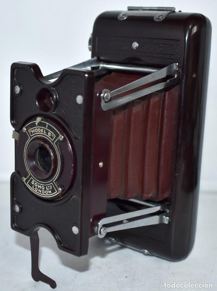 Cámara de fotos: ESPECTACULAR..1930..SOHO FOLDING MODEL B..BAQUELITA Y FUELLE GRANATE..MUY BUEN ESTADO..FUNCIONA - Foto 8 - 212793836