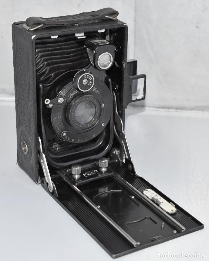 Cámara de fotos: RARA Y PEQUEÑA Y RARA, PLACAS DE 6,5x9..ZEISS IKON SUEVIA 24..ALEMANIA 1926.MUY BUEN ESTADO.FUNCIONA - Foto 3 - 213734566