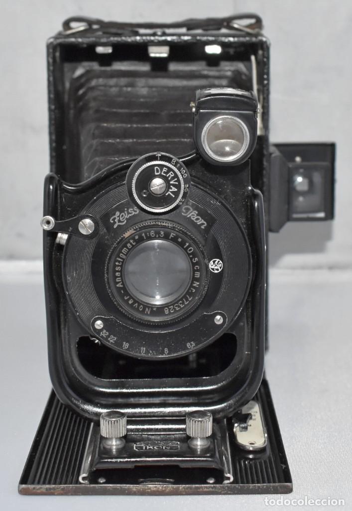 Cámara de fotos: RARA Y PEQUEÑA Y RARA, PLACAS DE 6,5x9..ZEISS IKON SUEVIA 24..ALEMANIA 1926.MUY BUEN ESTADO.FUNCIONA - Foto 4 - 213734566
