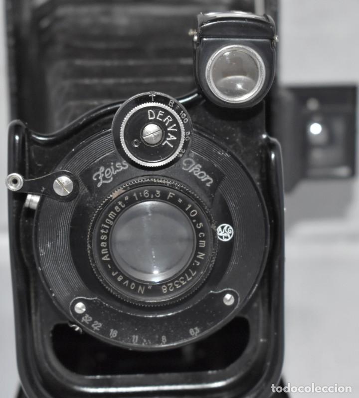 Cámara de fotos: RARA Y PEQUEÑA Y RARA, PLACAS DE 6,5x9..ZEISS IKON SUEVIA 24..ALEMANIA 1926.MUY BUEN ESTADO.FUNCIONA - Foto 5 - 213734566