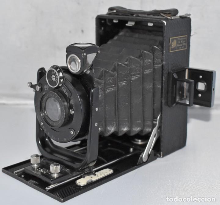 Cámara de fotos: RARA Y PEQUEÑA Y RARA, PLACAS DE 6,5x9..ZEISS IKON SUEVIA 24..ALEMANIA 1926.MUY BUEN ESTADO.FUNCIONA - Foto 6 - 213734566