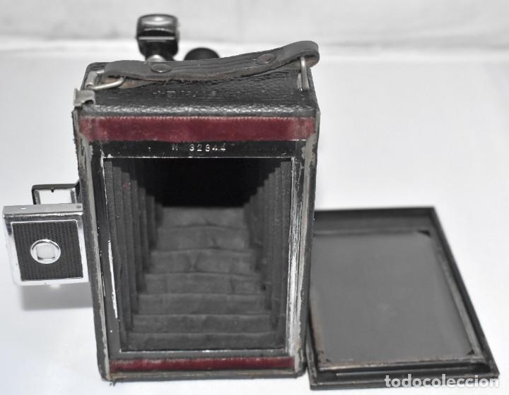 Cámara de fotos: RARA Y PEQUEÑA Y RARA, PLACAS DE 6,5x9..ZEISS IKON SUEVIA 24..ALEMANIA 1926.MUY BUEN ESTADO.FUNCIONA - Foto 21 - 213734566