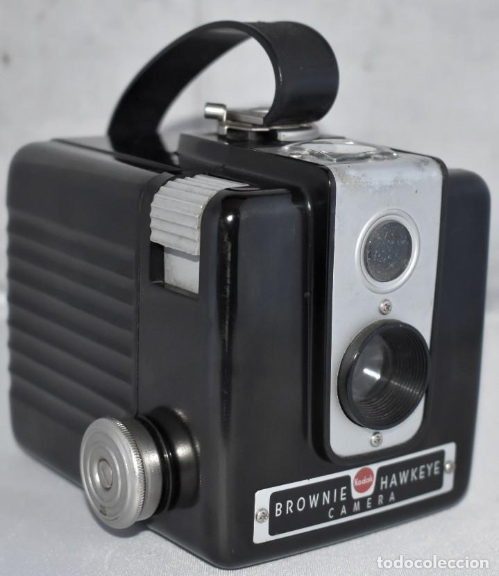 GRAN RAREZA EN BAQUELITA..PSEUDO TLR..KODAK BROWNIE HAWKEYE..USA 1949...MUY BUEN ESTADO..FUNCIONA (Cámaras Fotográficas - Antiguas (hasta 1950))