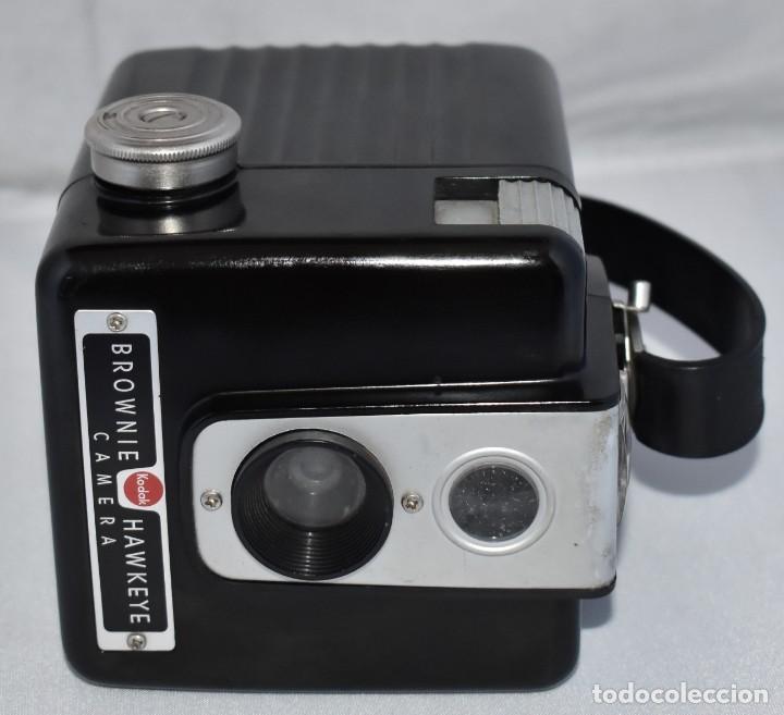 Cámara de fotos: GRAN RAREZA EN BAQUELITA..PSEUDO TLR..KODAK BROWNIE HAWKEYE..USA 1949...MUY BUEN ESTADO..FUNCIONA - Foto 8 - 213813540