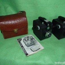 Câmaras de fotos: LOTE 2 CAMARA DE FOTOS GEVAERT GEVABOX DE1950 CAMARA DE CAJON 6X9. Lote 213908778
