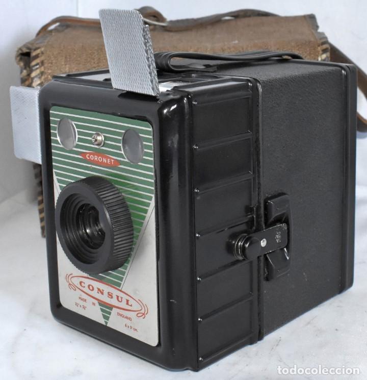 Cámara de fotos: CAMARA ANTIGUA DE CAJON, ART DECO..INGLESA 1940..CORONET CONSUL +FUNDA..MUY BUEN ESTADO..FUNCIONA - Foto 6 - 214469243