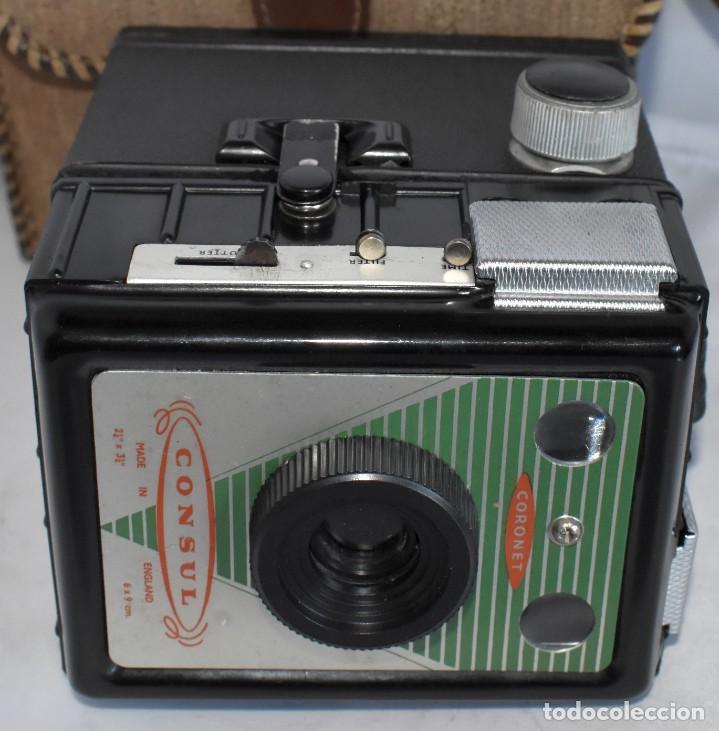Cámara de fotos: CAMARA ANTIGUA DE CAJON, ART DECO..INGLESA 1940..CORONET CONSUL +FUNDA..MUY BUEN ESTADO..FUNCIONA - Foto 14 - 214469243