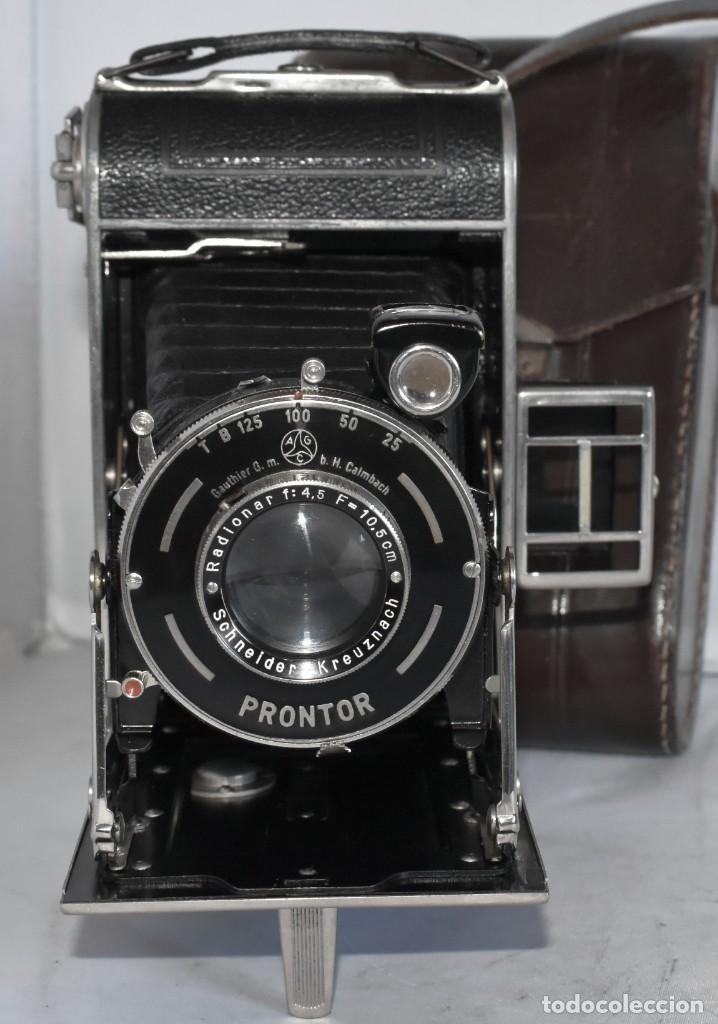 Cámara de fotos: MUY RARA, SIN MARCA.FUELLE.¿WIRGIN AUTA? DUAL+MASCARA+FUNDA..ALEMANIA 1949.MUY BUEN ESTADO.FUNCIONA - Foto 4 - 214757417