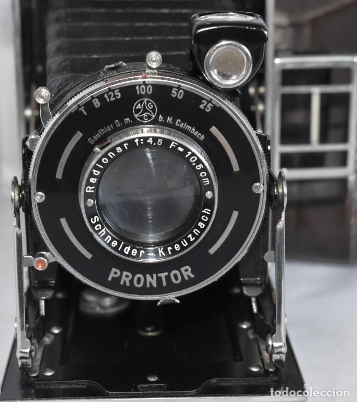 Cámara de fotos: MUY RARA, SIN MARCA.FUELLE.¿WIRGIN AUTA? DUAL+MASCARA+FUNDA..ALEMANIA 1949.MUY BUEN ESTADO.FUNCIONA - Foto 5 - 214757417