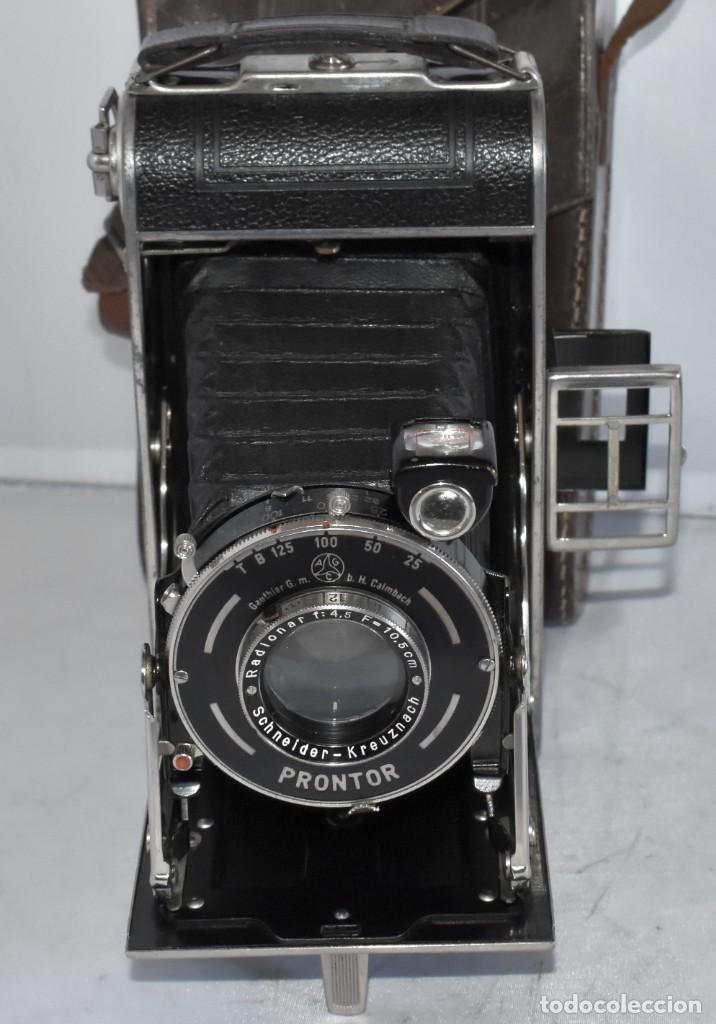 Cámara de fotos: MUY RARA, SIN MARCA.FUELLE.¿WIRGIN AUTA? DUAL+MASCARA+FUNDA..ALEMANIA 1949.MUY BUEN ESTADO.FUNCIONA - Foto 9 - 214757417