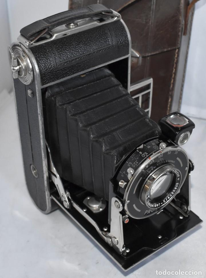 Cámara de fotos: MUY RARA, SIN MARCA.FUELLE.¿WIRGIN AUTA? DUAL+MASCARA+FUNDA..ALEMANIA 1949.MUY BUEN ESTADO.FUNCIONA - Foto 10 - 214757417