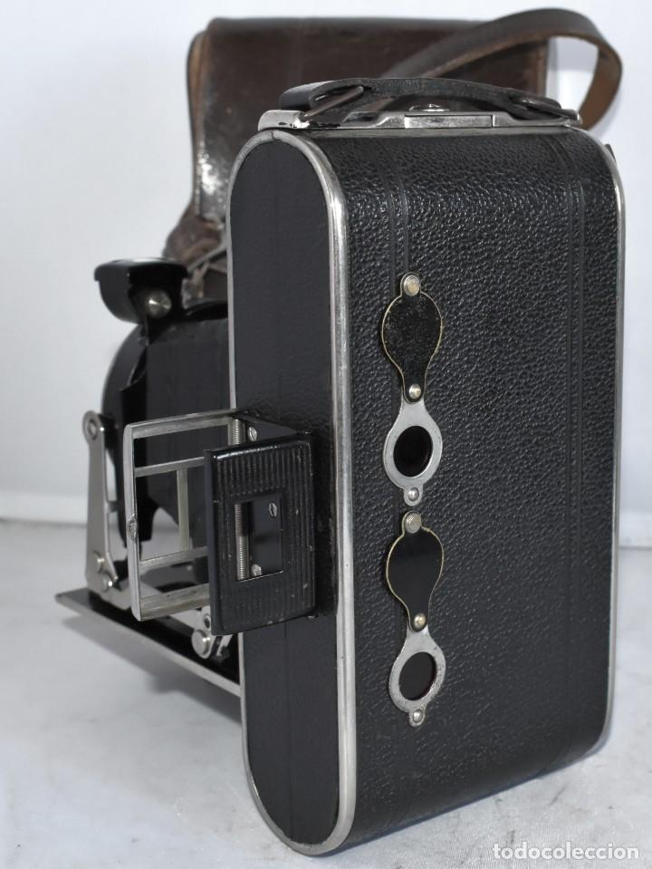 Cámara de fotos: MUY RARA, SIN MARCA.FUELLE.¿WIRGIN AUTA? DUAL+MASCARA+FUNDA..ALEMANIA 1949.MUY BUEN ESTADO.FUNCIONA - Foto 12 - 214757417
