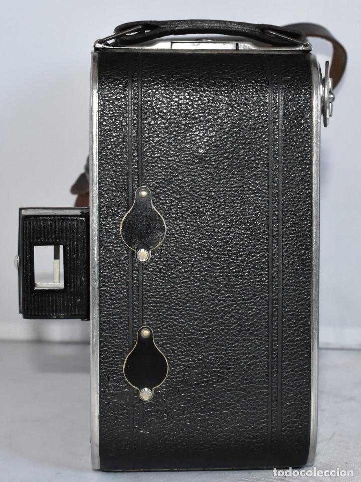 Cámara de fotos: MUY RARA, SIN MARCA.FUELLE.¿WIRGIN AUTA? DUAL+MASCARA+FUNDA..ALEMANIA 1949.MUY BUEN ESTADO.FUNCIONA - Foto 13 - 214757417