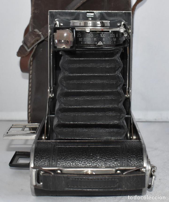 Cámara de fotos: MUY RARA, SIN MARCA.FUELLE.¿WIRGIN AUTA? DUAL+MASCARA+FUNDA..ALEMANIA 1949.MUY BUEN ESTADO.FUNCIONA - Foto 19 - 214757417