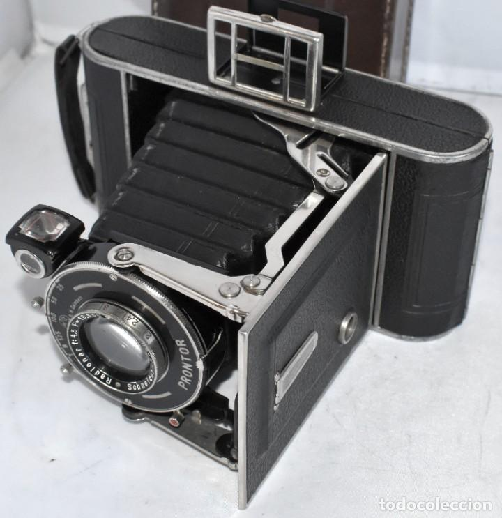 Cámara de fotos: MUY RARA, SIN MARCA.FUELLE.¿WIRGIN AUTA? DUAL+MASCARA+FUNDA..ALEMANIA 1949.MUY BUEN ESTADO.FUNCIONA - Foto 21 - 214757417
