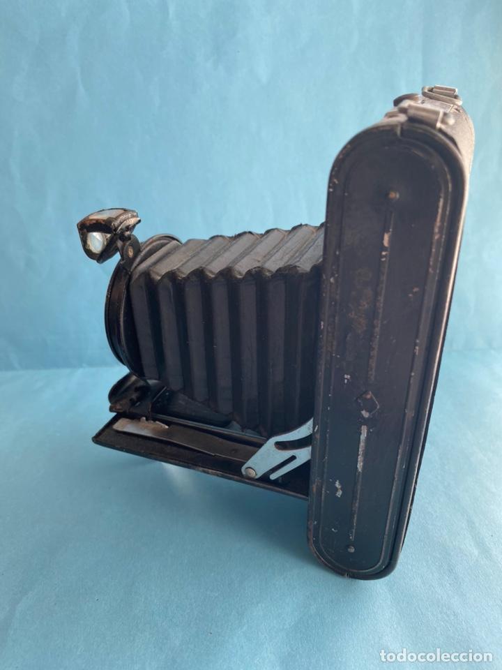 Cámara de fotos: Antigua cámara de fotos. recámara fotográfica de fuelle REX. Hecha en Inglaterra - Foto 3 - 215809490