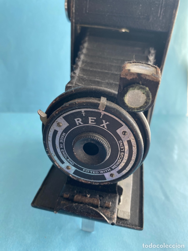 Cámara de fotos: Antigua cámara de fotos. recámara fotográfica de fuelle REX. Hecha en Inglaterra - Foto 4 - 215809490