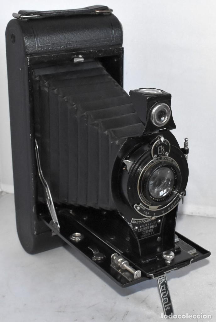 ANTIGUEDAD, RAREZA..ENORME 23 CM..KODAK POCKET Nº 2C+PUNZÓN..BUEN ESTADO.FUNCIONA..USA 1925..OCASION (Cámaras Fotográficas - Antiguas (hasta 1950))
