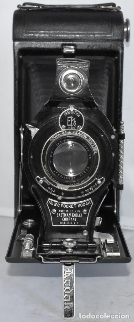 Cámara de fotos: ANTIGUEDAD, RAREZA..ENORME 23 cm..KODAK POCKET Nº 2C+PUNZÓN..BUEN ESTADO.FUNCIONA..USA 1925..OCASION - Foto 5 - 215831045