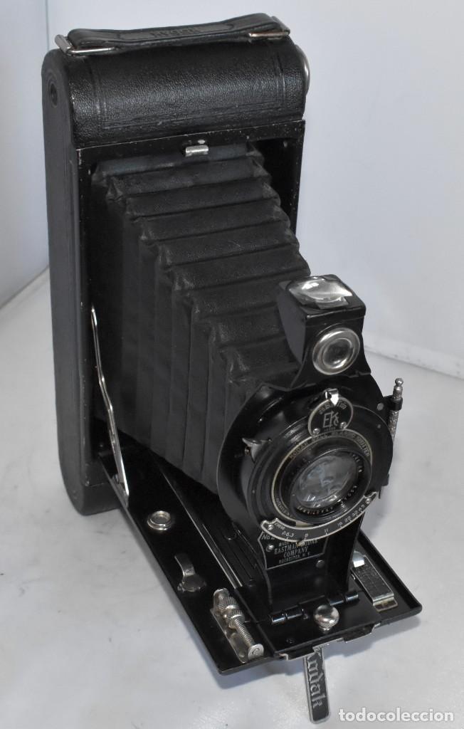 Cámara de fotos: ANTIGUEDAD, RAREZA..ENORME 23 cm..KODAK POCKET Nº 2C+PUNZÓN..BUEN ESTADO.FUNCIONA..USA 1925..OCASION - Foto 9 - 215831045