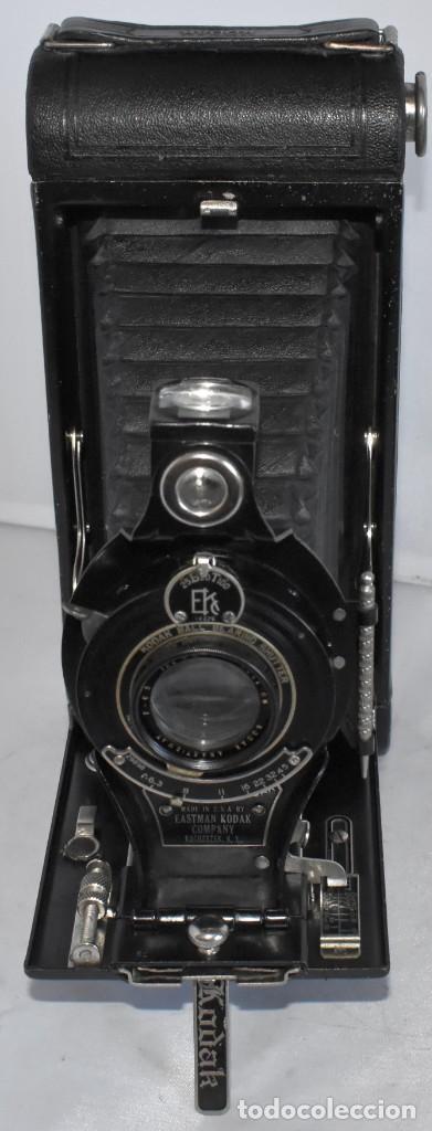 Cámara de fotos: ANTIGUEDAD, RAREZA..ENORME 23 cm..KODAK POCKET Nº 2C+PUNZÓN..BUEN ESTADO.FUNCIONA..USA 1925..OCASION - Foto 10 - 215831045