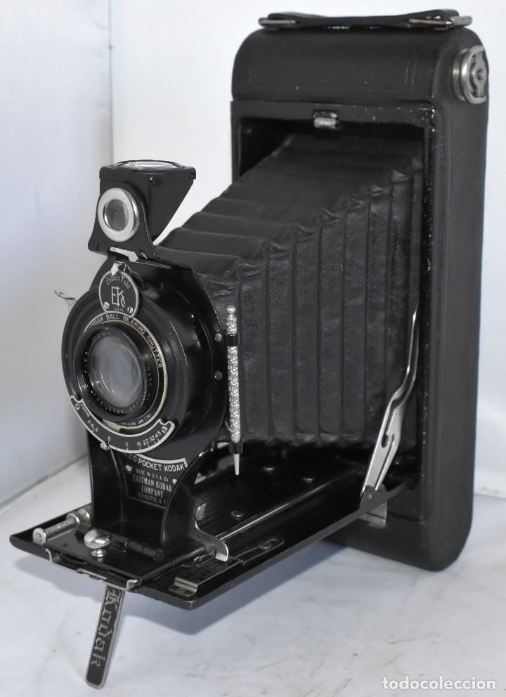 Cámara de fotos: ANTIGUEDAD, RAREZA..ENORME 23 cm..KODAK POCKET Nº 2C+PUNZÓN..BUEN ESTADO.FUNCIONA..USA 1925..OCASION - Foto 11 - 215831045