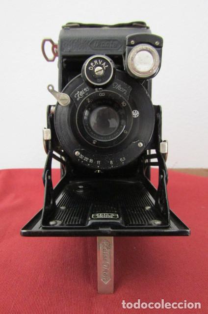 Cámara de fotos: Antigua cámara fotos alemana fuelle plegable marca Zeiss Ikon Ikonta 510/2 año 1936 con su estuche - Foto 4 - 216842506