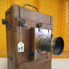 Cámara de fotos: CAMARA DE FOTOS DE FUELLE CUERPO DE MADERA. Lote 217776547