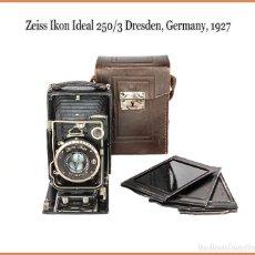 Cámara de fotos: ZEISS IKON IDEAL, VERSION 250/3, EXCELENTE CÁMARA PLEGABLE ALEMANA DE 1927. MUY BUEN ESTADO. Lote 218054270