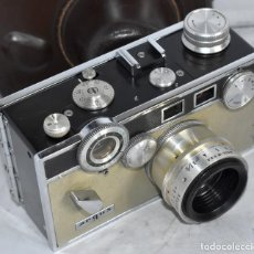 Cámara de fotos: ?TELEMETRICA 35 MM..LA DE HARRY POTTER.ARGUS C 3 MATCH MATIC+FUNDA ORIGINAL.MUY BUEN ESTADO.FUNCIONA. Lote 218711885