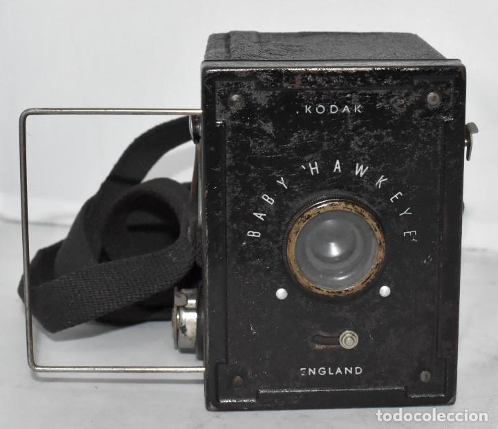 Cámara de fotos: ESCASA Y RARA MINIATURA EN 127 FILM..KODAK BABY HAWKEYE..INGLATERRA 1936..FUNCIONA..REGULAR ESTADO - Foto 5 - 219548917