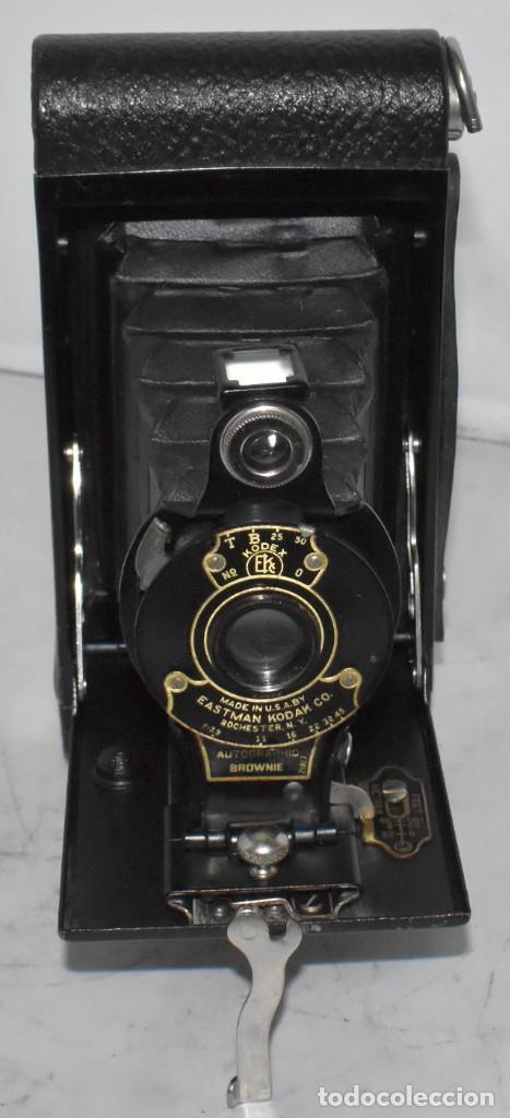 Cámara de fotos: IMPRESCINDIBLE,RARA.KODAK Nº 2 FOLDING AUTOGRAPHIC BROWNIE.CANADA 1915/1926.MUY BUEN ESTADO.FUNCIONA - Foto 2 - 219554143