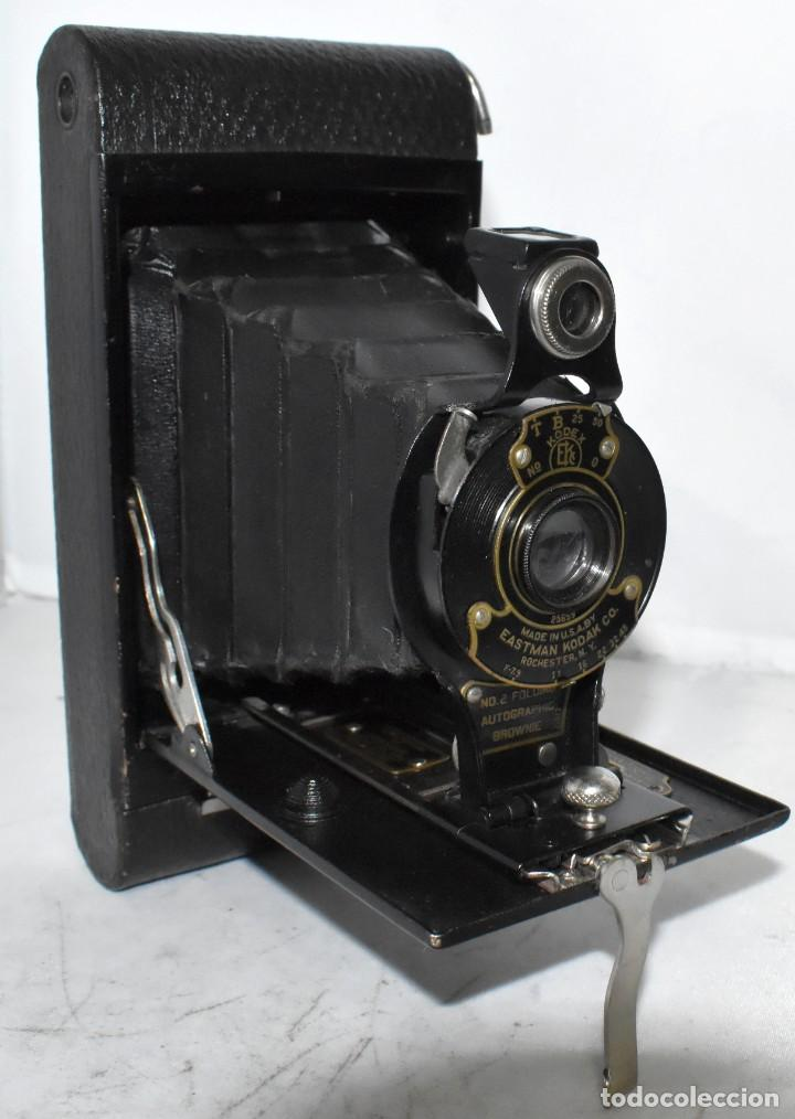 Cámara de fotos: IMPRESCINDIBLE,RARA.KODAK Nº 2 FOLDING AUTOGRAPHIC BROWNIE.CANADA 1915/1926.MUY BUEN ESTADO.FUNCIONA - Foto 7 - 219554143