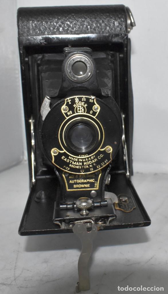 Cámara de fotos: IMPRESCINDIBLE,RARA.KODAK Nº 2 FOLDING AUTOGRAPHIC BROWNIE.CANADA 1915/1926.MUY BUEN ESTADO.FUNCIONA - Foto 8 - 219554143