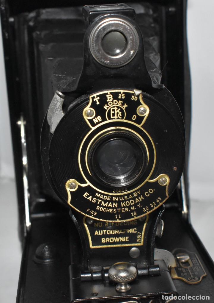 Cámara de fotos: IMPRESCINDIBLE,RARA.KODAK Nº 2 FOLDING AUTOGRAPHIC BROWNIE.CANADA 1915/1926.MUY BUEN ESTADO.FUNCIONA - Foto 9 - 219554143