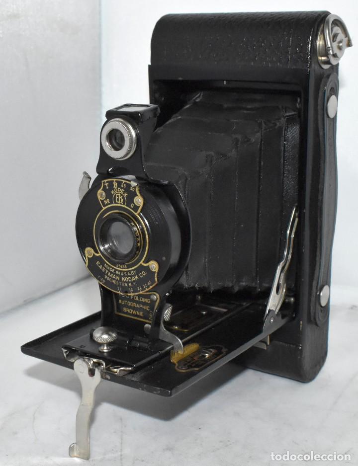 Cámara de fotos: IMPRESCINDIBLE,RARA.KODAK Nº 2 FOLDING AUTOGRAPHIC BROWNIE.CANADA 1915/1926.MUY BUEN ESTADO.FUNCIONA - Foto 11 - 219554143