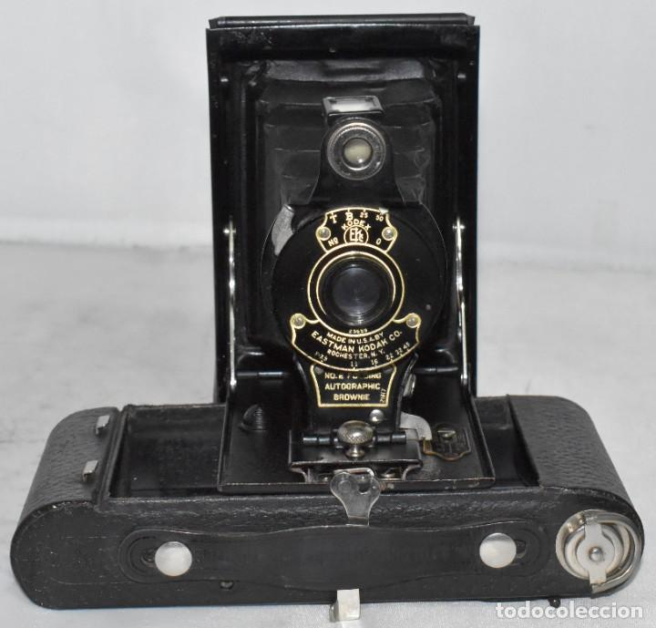 Cámara de fotos: IMPRESCINDIBLE,RARA.KODAK Nº 2 FOLDING AUTOGRAPHIC BROWNIE.CANADA 1915/1926.MUY BUEN ESTADO.FUNCIONA - Foto 13 - 219554143