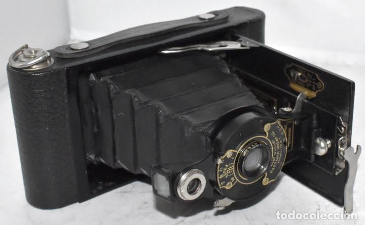 Cámara de fotos: IMPRESCINDIBLE,RARA.KODAK Nº 2 FOLDING AUTOGRAPHIC BROWNIE.CANADA 1915/1926.MUY BUEN ESTADO.FUNCIONA - Foto 14 - 219554143
