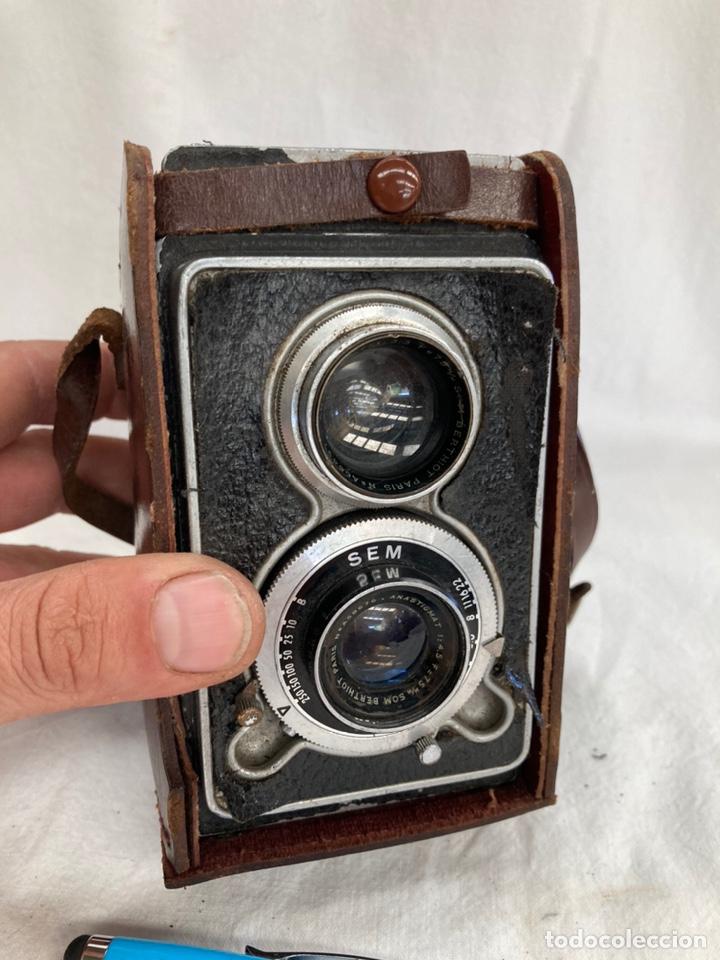 ANTIGUA CAMARA DE FOTOS SEMFLEX CON FUNDA! (Cámaras Fotográficas - Antiguas (hasta 1950))