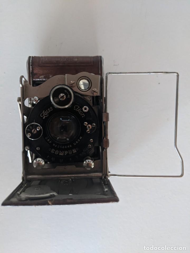 PRINCIPIOS SIGLO XX RARA ZEISS IKON COMPUR FOLDING PLATE DRP 258646 MARRON (Cámaras Fotográficas - Antiguas (hasta 1950))
