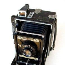 Cámara de fotos: *C1940* • GRAN GRAFLEX ANNIVERSARY SPEED GRAPHIC CÁMARA DE PRENSA 3¼ X 4¼ USA • WOLLENSAK F6.3. Lote 222281298